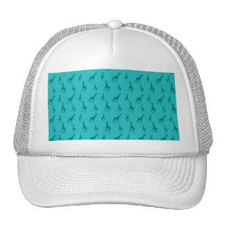 Turquoise giraffes hat