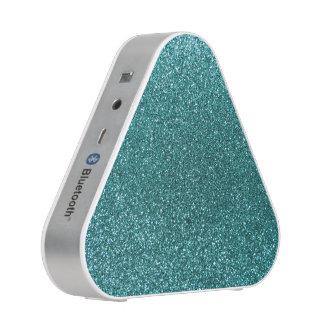 Turquoise glitter speaker