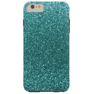 Turquoise glitter tough iPhone 6 plus case