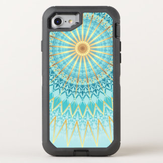 Turquoise Gold Boho Mandala OtterBox Defender iPhone 8/7 Case