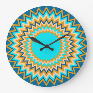 Turquoise Gold Festive Wall Clocks