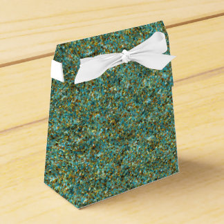 Turquoise Gold Glitter-PARTY FAVOR BOXES,tent Wedding Favour Box