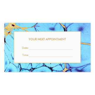 Turquoise Gold Watercolor Salon Appointment Card Pack Of Standard Business Cards