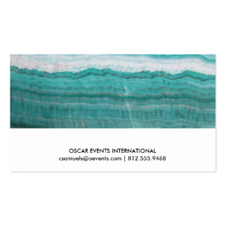 Turquoise Granite Stone Layered Wave Print Pack Of Standard Business Cards
