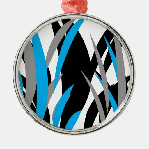 Turquoise Grass Design Ornaments