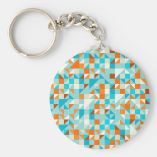 Turquoise Green and Blue pattern Keychains