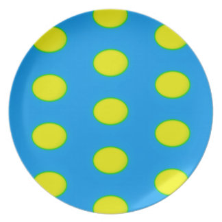 Turquoise, Green and Yellow Eggs Plate