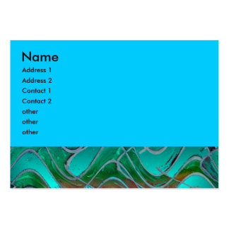 turquoise green business card