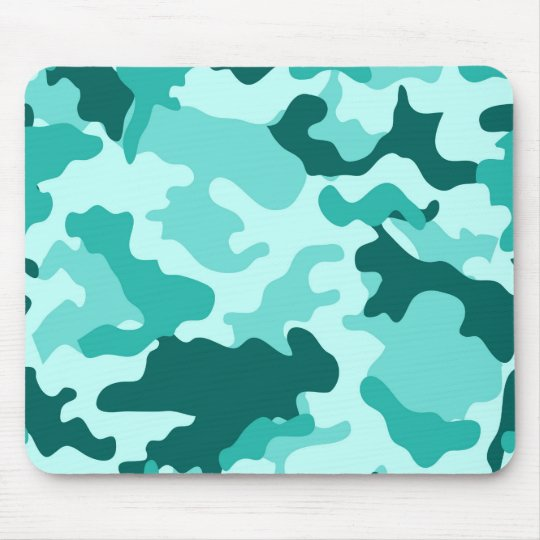 Turquoise Green Camo Mousepad