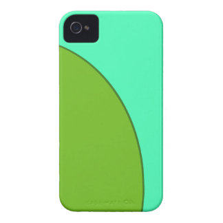 Turquoise Green Circle iPhone 4 Cases