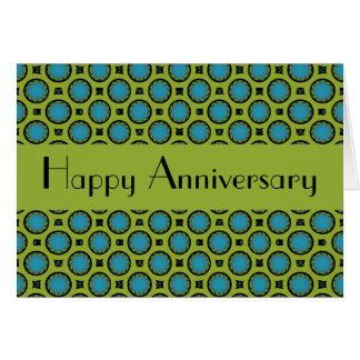 Turquoise Green Circles Card