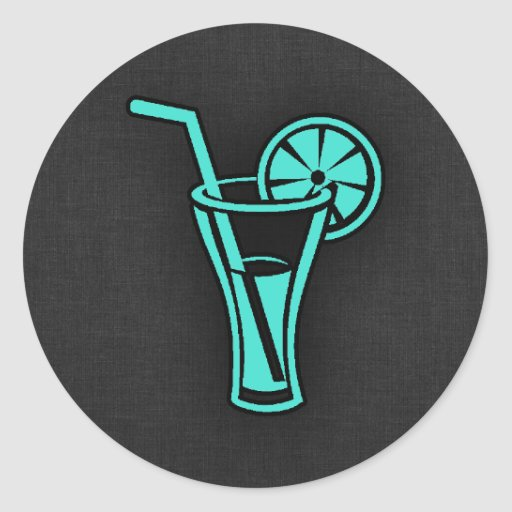 Turquoise Green Cocktail Sticker