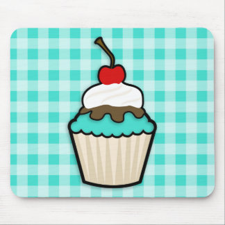 Turquoise Green Cupcake Mouse Pad