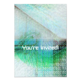 Turquoise Green Digital Shed Invitation