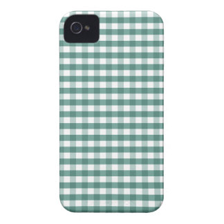 Turquoise Green Gingham iPhone 4 Cover