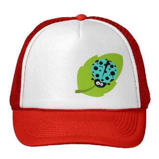 Turquoise Green Ladybug Mesh Hat