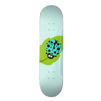 Turquoise Green Ladybug Skate Board