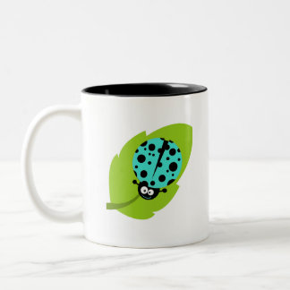 Turquoise Green Ladybug Two-Tone Mug