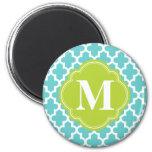 Turquoise & Green Modern Moroccan Custom Monogram
