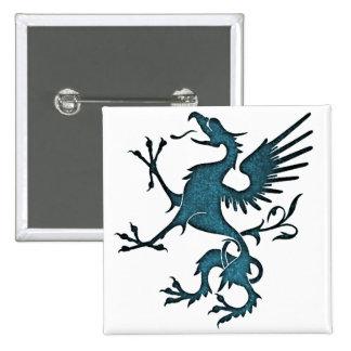 Turquoise Griffon (Eagle Lion) Button