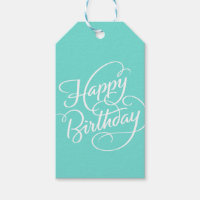TURQUOISE HAPPY BIRTHDAY | GIFT TAG PACK OF GIFT TAGS