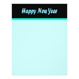 turquoise happy new year 21.5 cm x 28 cm flyer
