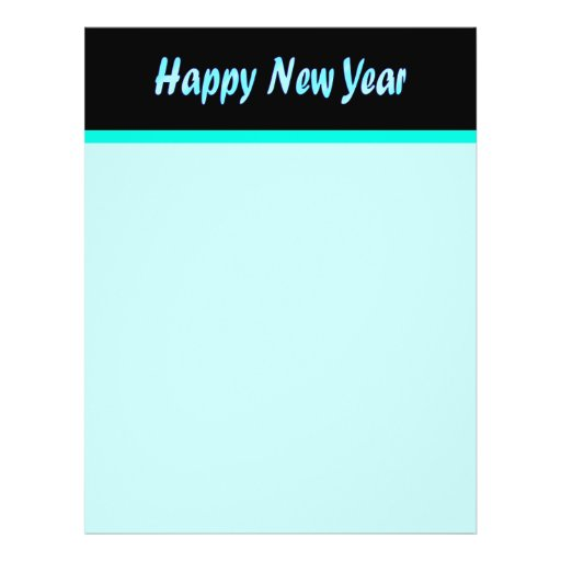 turquoise happy new year full color flyer