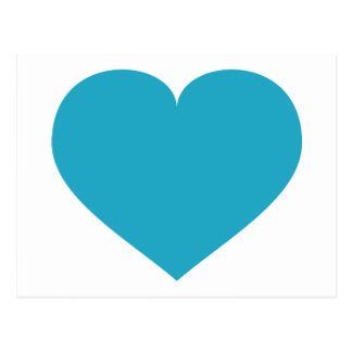 Turquoise heart postcard