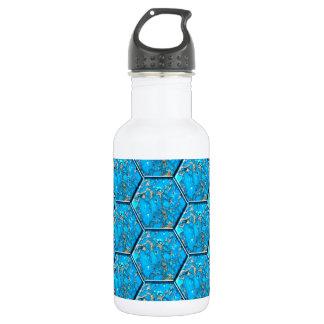 Turquoise Hexagon Tiles 532 Ml Water Bottle