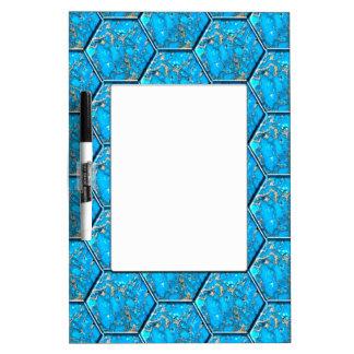 Turquoise Hexagon Tiles Dry Erase Board