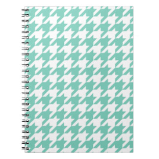 Turquoise Houndstooth Notepad Notebooks