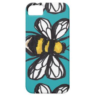 Turquoise Humble Bumblebee Phone Case