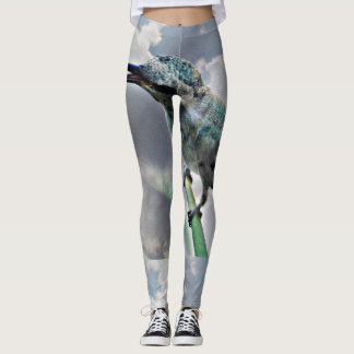 Turquoise Hummer In the Clouds Women's Leggings