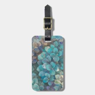 Turquoise Hydrangea Luggage Tag