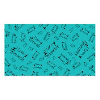 Turquoise I love gymnastics Business Card