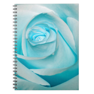 Turquoise Ice Rose Note Books