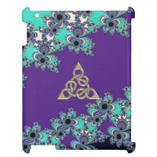 Turquoise Indigo Fractal Celtic Figure 8 Knot Cover For The iPad