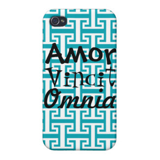 Turquoise iPhone 4 Case: Love Conquers All