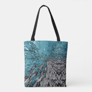 Turquoise Kaleidoscope Rain Tote Bag
