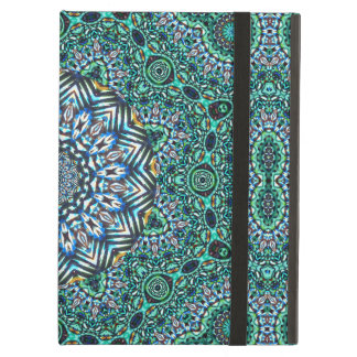 Turquoise Kaleidoscopic Mosaic Reflections Design Cover For iPad Air