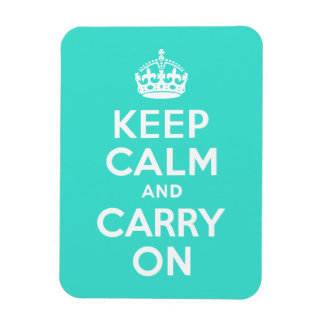 Turquoise Keep Calm and Carry On Magnet