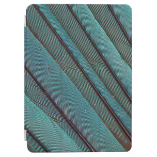 Turquoise Kingfisher Feather Design iPad Air Cover