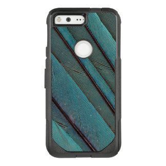 Turquoise Kingfisher Feather Design OtterBox Commuter Google Pixel Case