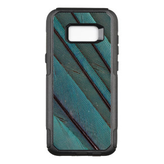 Turquoise Kingfisher Feather Design OtterBox Commuter Samsung Galaxy S8+ Case