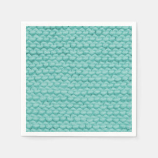 Turquoise Knit Napkins Disposable Napkins