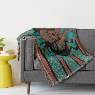 Turquoise Kokopelli Tribal Southwest Design