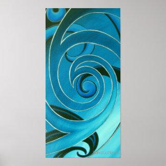 Turquoise Koru Poster