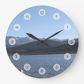 Turquoise Lake, Colorado Large Clock