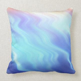 Turquoise Lavender Waves Cushion