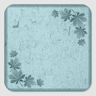 Turquoise Leaf Banana Paper Sticker